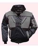 Veste d'hiver tokapi pilotjacke multifonction 4 en 1 gris/noir taille s-xXXL