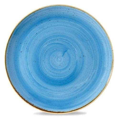 Coupe Teller, 'Stonecast', Porzellan, blau , Churchill - Coupe 10.25