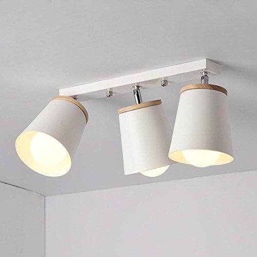 Moderne Mode Mini Plafonnier Plafonnier éclairage intérieur orientable Ampoule Lampe Salon Chambre à coucher Fer Résine acrylique Ampoule Edison Blanc Ø13 cm B