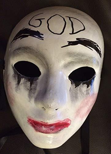 rung männliche Maske Grin Halloween-Film Horror Fancy Kleid Kiss Me God Smiling Deluxe UK ()