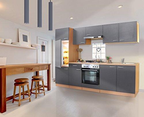 Respekta - set da 2 blocchi cucina basic, ampiezza completa 270 cm, non montato buche/grau