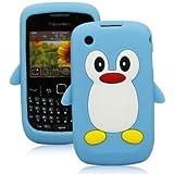 Tinkerbell Trinkets® Bleu Clair Mignon Pingouin Manchot Etui Coque Housse Pour Blackberry Curve 8520 8530 9300 3G