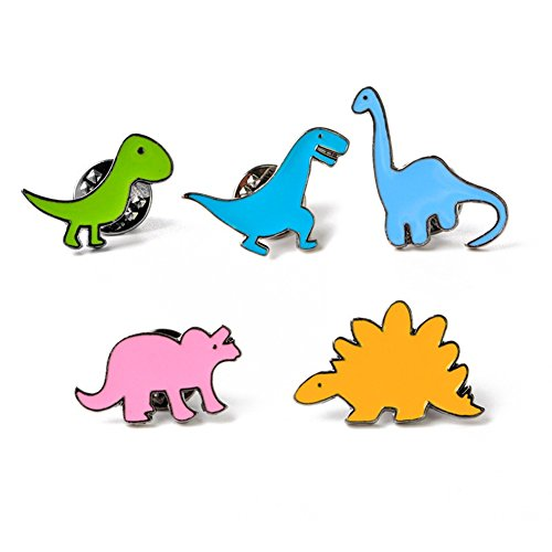 Doitsa Women's Brooch Pin Little Dinosaur Shape Cute Animal Lady Jewellery Brooch Set Ideal Gift For Birthday Party Dating (5pcs)