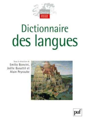 Dictionnaire des langues par Alain Peyraube (sous la direction de)