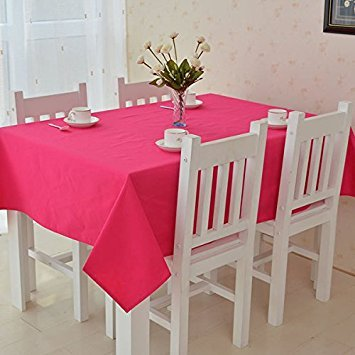 ALL FOR YOU Alle für Sie rechteckig Stoff Tischdecke, Rechteck Waschbar Abendessen Picnic Tischdecke, Sortiert; Haltbares Gummi Größe 132,1x 177,8cm Hot pink (Hot Pink Stoff Tischdecke)