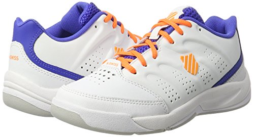 K-Swiss , Chaussures de tennis pour garçon Blanc/bleu/orange Blanc/bleu/orange
