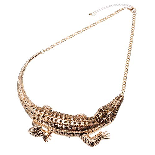 Jerollin dichiarazione collane, bigiotteria di moda per donne girocollo strass collana