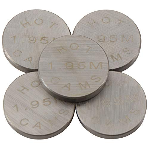 Pastillas de reglaje valvulas Hot Cams (Set 5pcs) Ø13 x 1,95 mm