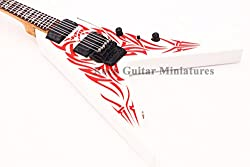 Rgm657 Bb Rick Kerry King Miniature Guitar Including Leather Guitar Strap