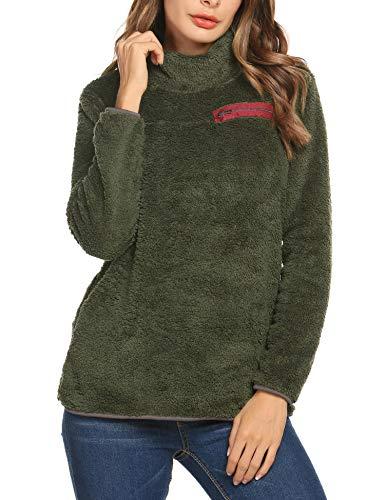 finest selection 7acb0 df8df Romanstii Donna Felpe con Cappuccio Inverno Felpe Tumblr Ragazza Cool  Pullover Felpa per Donna Oversize Sweatshirt (Green, Small)