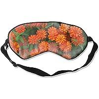 Schlafmaske mit orangefarbenem Blumenmuster, weich und bequem, Augenbinde für vollständige Verdunkelung und Lichtblockierung... preisvergleich bei billige-tabletten.eu