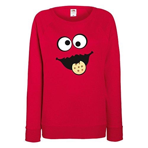 c35b2fb7ed Shirt-Panda Keks Monster Damen Sweatshirt Gruppen Kostüm Karneval Fasching  Verkleidung Party JGA Red S