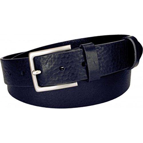 Esperanto cintura in cuoio di toro bottalato altezza 3,5 cm (taglia 44-100 cm-girovita 85 cm, blu)