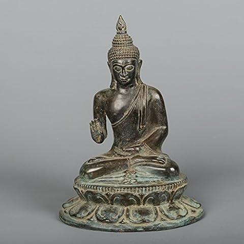 Thai Style Antique Bronze Bouddha en Abhaya Mudra