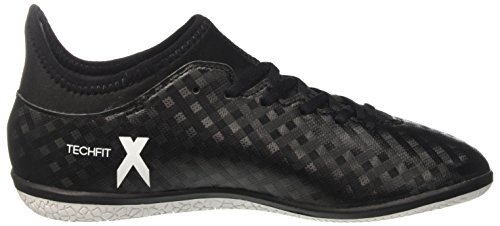 adidas X 16.3 In, Chaussures de Football Compétition Mixte Enfant Noir (Core Black/Ftwr White/Core Black)