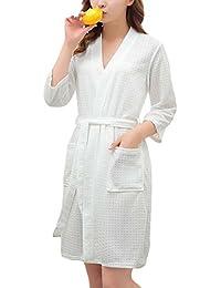 LINGJUN Gran Tamaño Albornoz de Pareja Matrimonio Bata SPA Absorbente Sudor Pijamas Unisex para Hombre Material Superior Mañana Vestido Ropa de Dormir Portátil Viaje Hotel
