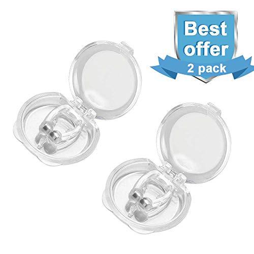 Nasharia Snore Stopper Unisex, Silicone Magnetic Snore Protection Aide Efficacement à Lutter Contre Le ronflement, apnée du Sommeil etc.
