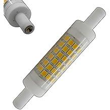 R7S LED 5Watt bianco caldo 78mm x 15mm (molto piccolo diametro) Lampadina Lampada alogena J118Fluter Brenner faro luce di inondazione