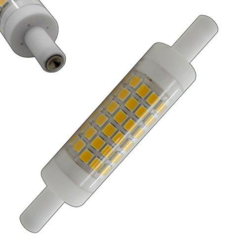 R7s LED 5 Watt warmweiß 78mm x 15mm (sehr kleiner Durchmesser) Leuchtmittel Lampe Halogen j78 Fluter Brenner Scheinwerfer Flutlicht