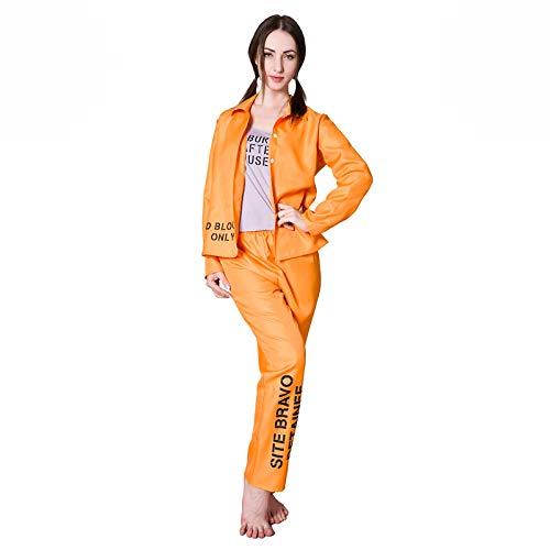 Orange Prisoner Convict Ladies Fancy Dress Costume
