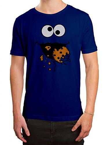 (Kostüm Krümelmonster Premium T-Shirt | Verkleidung | Karneval | Fasching | Herren | Shirt © Shirt Happenz, Farbe:Blau (Royalblue L190);Größe:XXL)