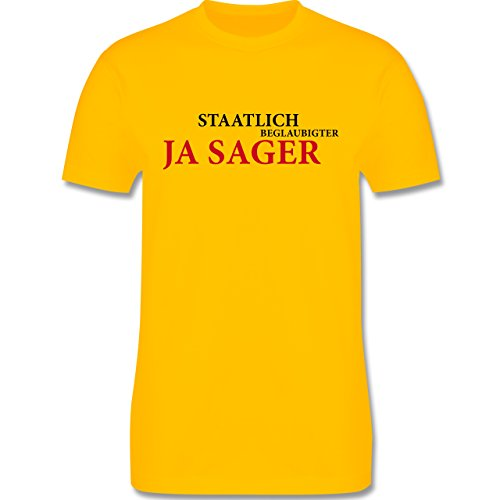 JGA Junggesellenabschied - Staatlich beglaubigter JA Sager - Herren Premium T-Shirt Gelb