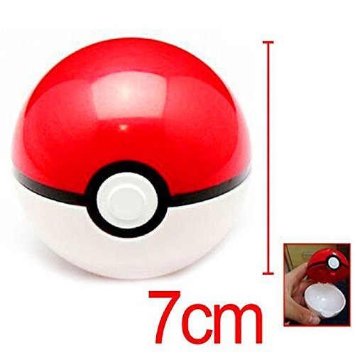 Pokemon Poke Ball Pokeball Mini Model Classic Anime Pikachu Super Master Pokemon Ball Action Figures Toys 7cm by Pokeball SDAS