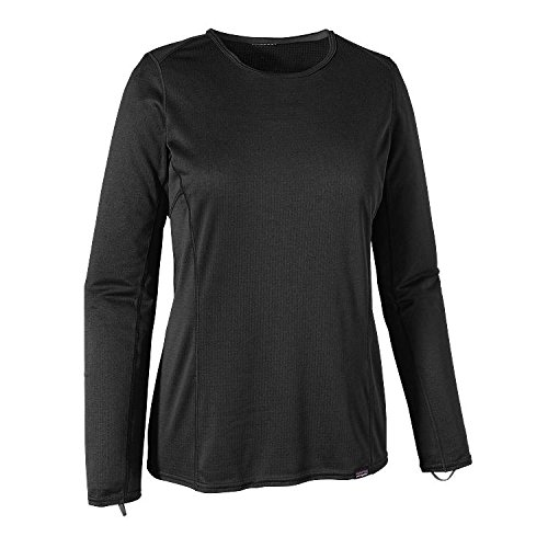 Patagonia Damen Capilene Midweight Crew Base Layer Top S schwarz (Shirt Crew Midweight)