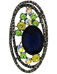 Anuradha Art Blue Colour Designer Stylish Delicate Sari Pin/Brooch For Women/Girls