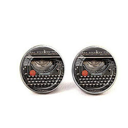 inen-Anhänger für Schreibmaschine, Schreibmaschine, Schmuck, Schriftsteller, Halskette, Schwarz/Rot/Grau ()