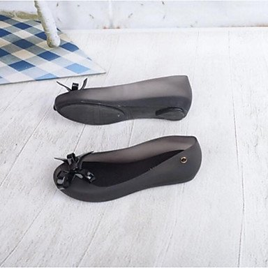pwne Donna Sandali Slingback Estate Pu Casual Nero Argento US8.5 / EU39 / UK6.5 / CN40