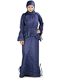 MyBatua Tahira Cotton Navy Blue Abaya