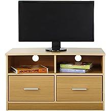 Absolute Deal Meuble TV avec 2 tiroirs et étagère, bois, hêtre, ... e90e217a4fa4
