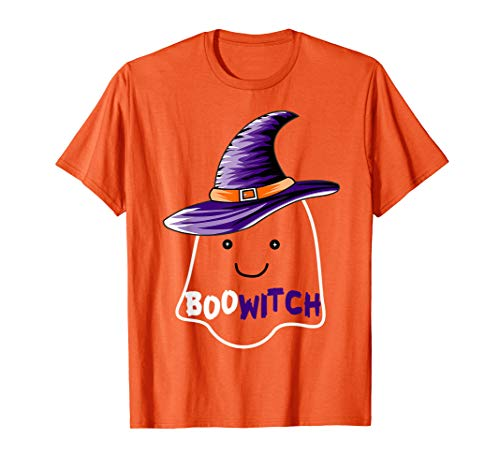 Frauen Boo Kostüm - Boo-Hexe-Halloween-Hut-Kostüm-T-Shirt Geschenk-Kinder