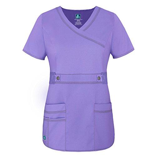 Adar Kasak, Berufskleidung, für Jugendliche/Auszubildende, mit Crossover-Ausschnitt und betonter Taille, grün, 3200LAVS (Mock Wrap Boop)