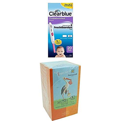 Clearblue Ovulationstest Digital, 20 Tests, 1er Pack + Sonnentor Bald Mami-Tee Bio-Bengelchen Teebeutel, 2er Pack (2 x 20 g) - Bio