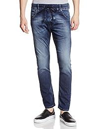 Jeans Diesel Krooley Ne Jog Jeans Carrot Indigo Bleu Delave Homme