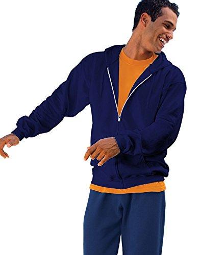 10 Oz Kapuzen-sweatshirt (Ultimative Baumwolle Full-Zip-Fleece-Kapuze 10 Oz Sweatshirt, Deep Navy, S)