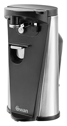 Swan Sp20110N ouvre-boîtes électrique 3en 1ouvre-boîtes, y compris Aiguiseur de couteau et décapsuleur, 60W