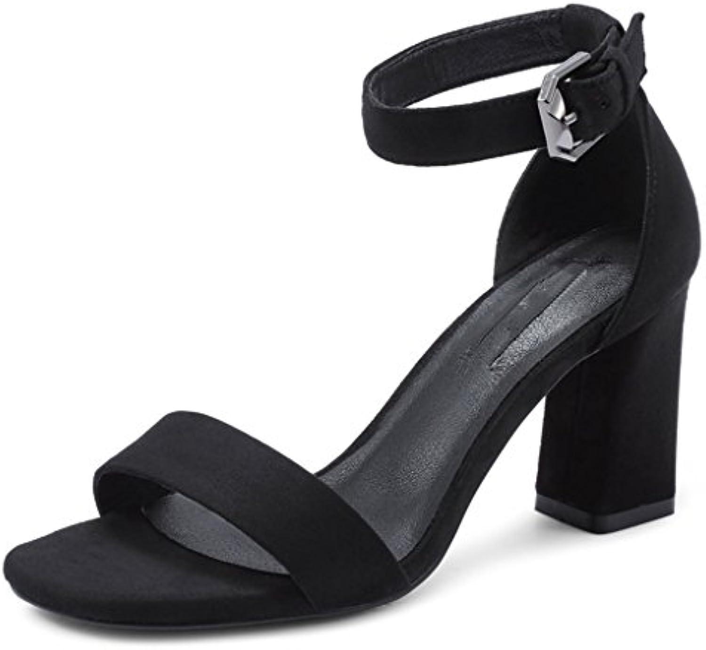 Sandales Palabra Con Sandalias De Mujer Verano Nuevos Zapatos Retro Grueso Con Zapatos De Tacones Altos Coreanos...