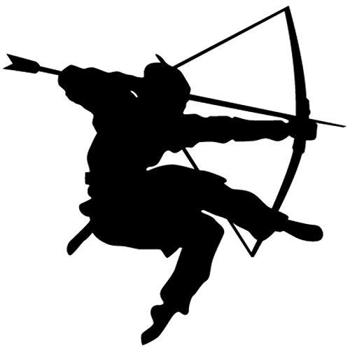 Kendo Wandaufkleber Samurai Aufkleber Japan Ninja Poster Vinyl Kunst Wandtattoos Pfeil und Bogen Dekor Wandbild Kendo Stick 69x74cm -