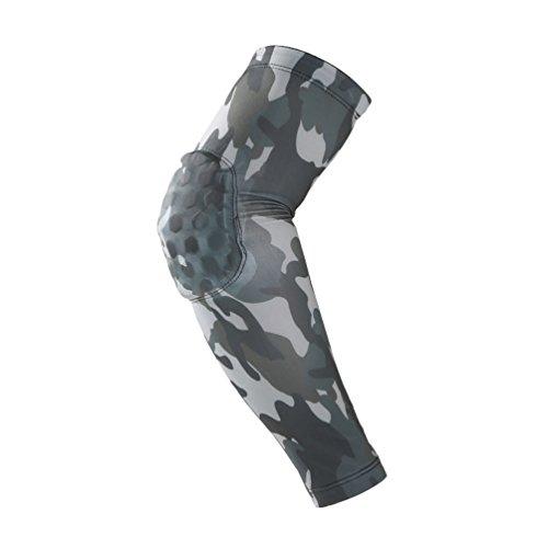 Dexinx Unisex Compression Ellenbogenstützhülse Hoher Elastischer Sport Ellenbogenbandage für Tennis, Golfer, Gewichtheben Tarnung M(39cm)