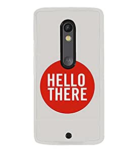 Hello 2D Hard Polycarbonate Designer Back Case Cover for Motorola Moto X Play