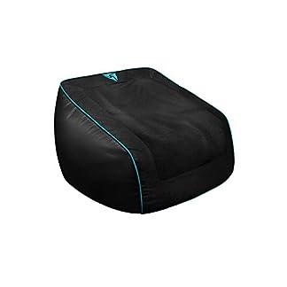 ThunderX3 DB5C – Puff Gaming Profesional (Cuero sintético, Tela Spandex, Tela Premium, flexibilidad, Triple Costura, Resistencia, Cremalleras Dobles, Relleno no Incluido) Color Negro y Cyan