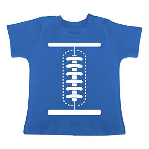 Karneval und Fasching Baby - Football Baby Kostüm - 12-18 Monate - Royalblau - BZ02 - Baby T-Shirt ()