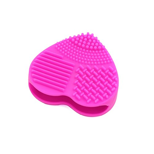 sourcingmap Forme coeur silicone Pinceau Maquillage Gant Lavage nettoyante brosse