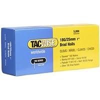 Tacwise 0396 - Caja de clavos galvanizados de 18 x 25 mm para clavadoras automaticas, 5000 unidades