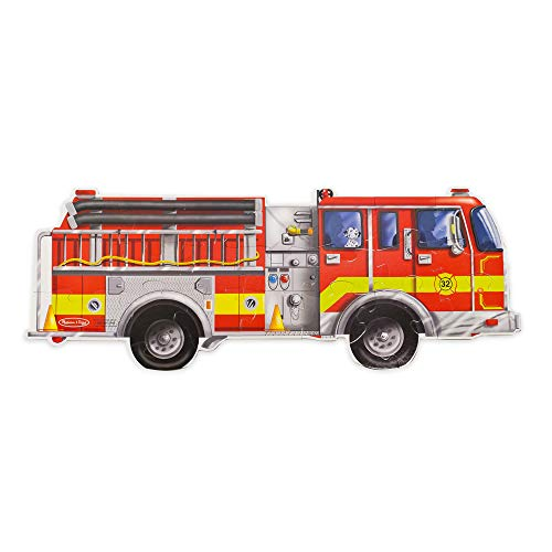 Melissa & Doug Fußbodenpuzzle - Riesiges Feuerwehrauto (24 Teile)