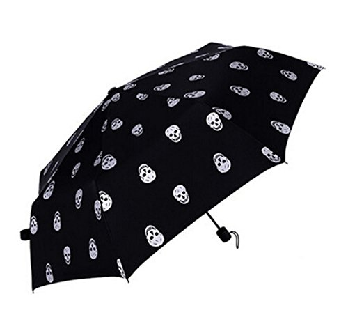 unisex-creative-skull-pattern-anti-uv-folding-umbrella