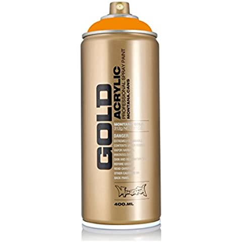Montana Gold Series Spray Paint - Golden Yellow 11 oz aerosol can by Montana